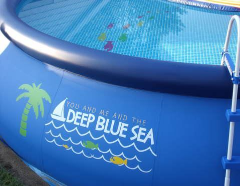 Uppercase your Pool!! Yes! Even add it to the inside of your pool before you add water!