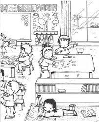 Dibujos De Niños De Jardin De Infantes Para Colorear