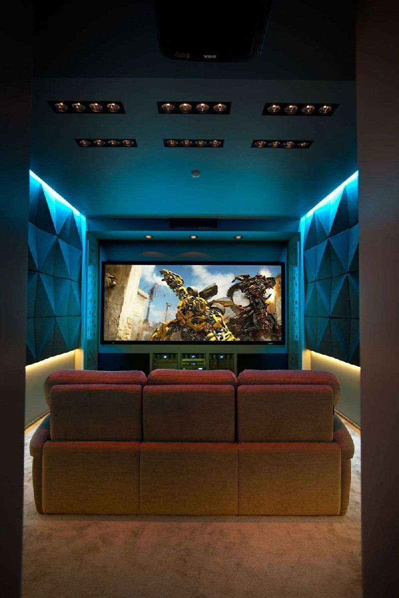 More Ideas Below: DIY Home Theater Decorations Ideas Basement Home Theater Rooms Red Hom