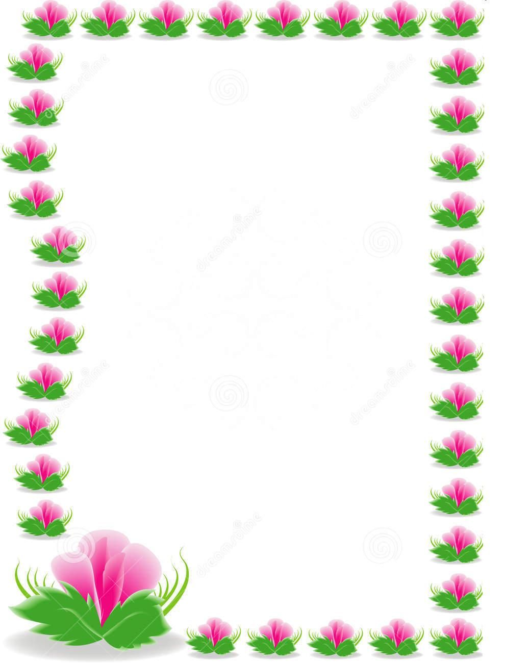 nice viewing gallery for pink and green flowers borders design hd sadiakomal