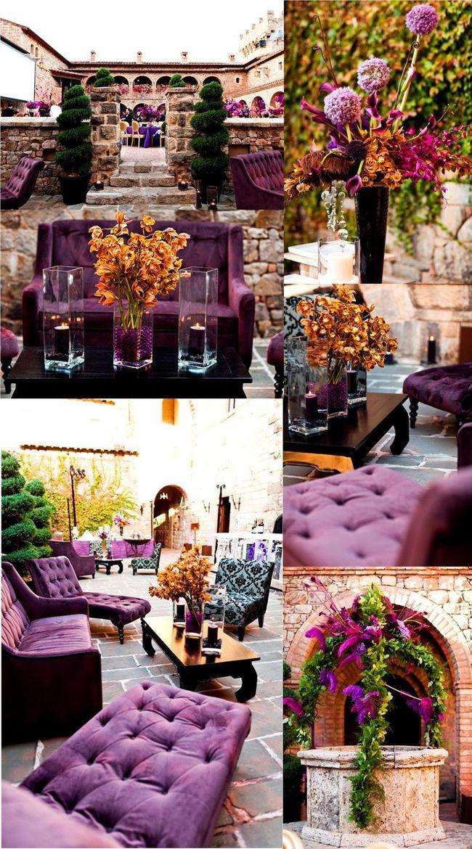 Wedding Inspiration Stunning Purple Gold Decor Purple Gold