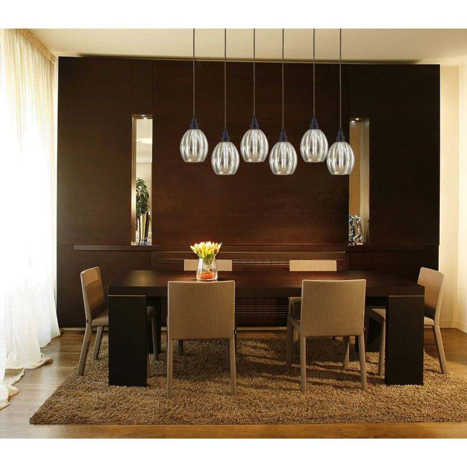 Contemporary Pendant Lighting For Dining Room Captivating Excellent Mercury Glass Pendant Light Fixtures For Dining Room 2018