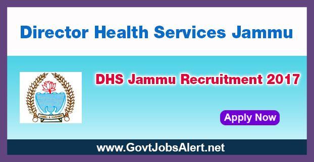 DHS Jammu Recruitment 2017 - Hiring Paramedical Ophthalmic Assistant