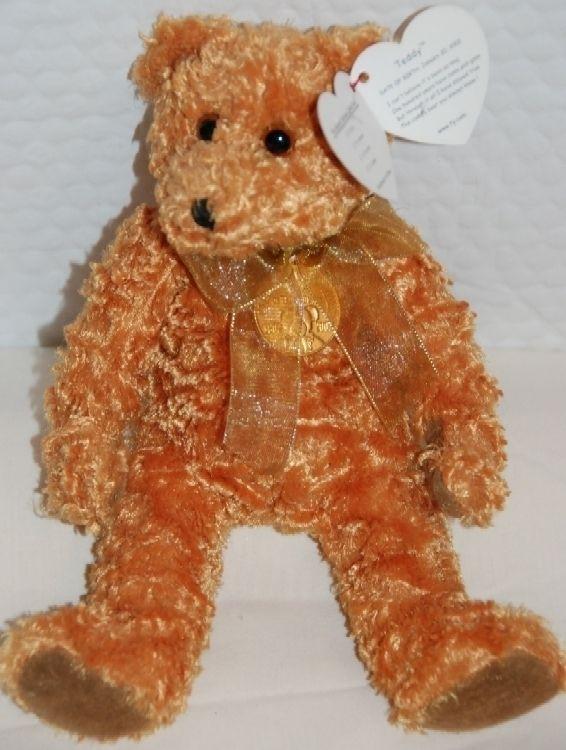 5291190c2bd 100th Anniversary Teddy Bear Beanie Baby RETIRED