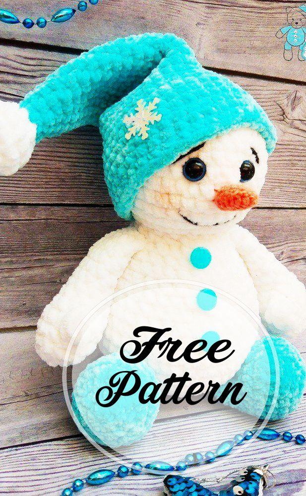 Ce bonhomme de neige en peluche au crochet est trop mignon! Amigurumi neige …   – Häkelanleitungen