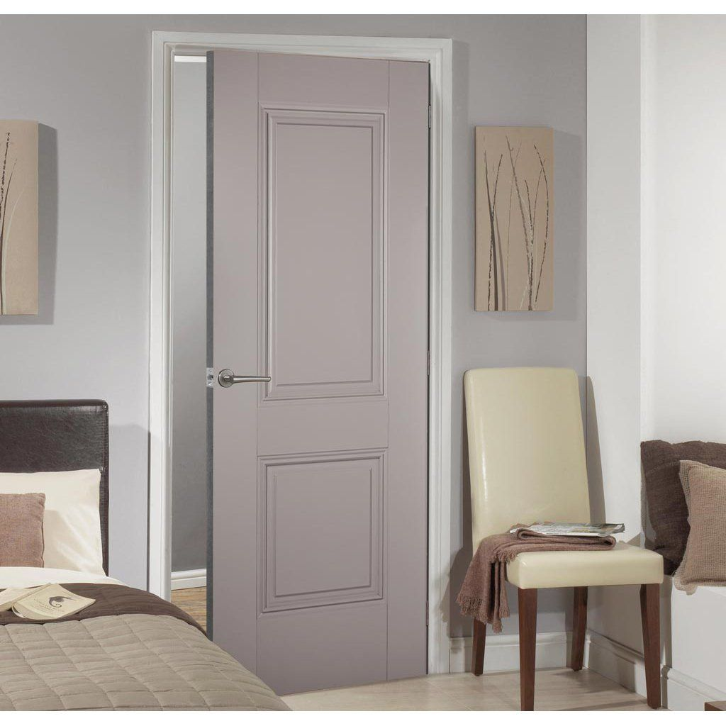Arnhem 2 Panel Grey Primed Fire Door 1 2 Hour Fire Rated Internal Doors Doors Interior Fire Doors