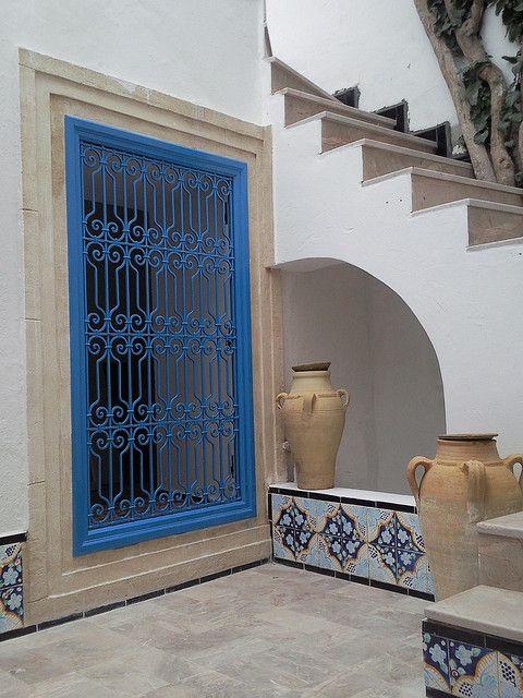 Patio 1 Maison Tunisie Architecture Mediterraneenne Et Maison