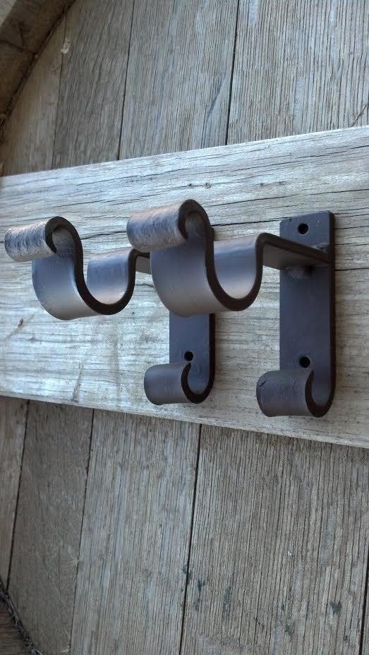 Sb211 Double Forged Brackets Wood Pole Iron Bracket 1
