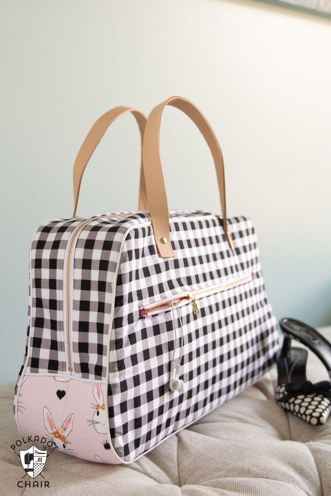 Retro Travel Bag Sewing Pattern PDF by Polka Dot Chair ...