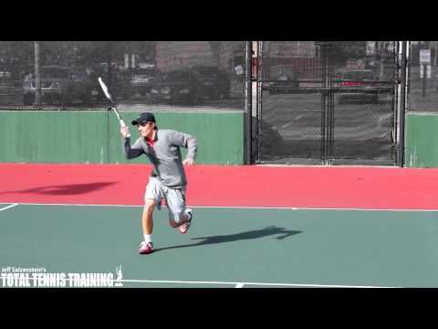 TENNIS VOLLEY | How To Volley Aggressively With Your Feet - YouTube