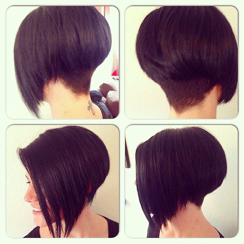 Undercut Graduated Bob Short Hair Styles Pixie Human Hair Wigs Short Hair Styles