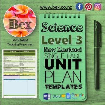 New Zealand Science Unit Plan Template (Level 3 NZC) Unit plan
