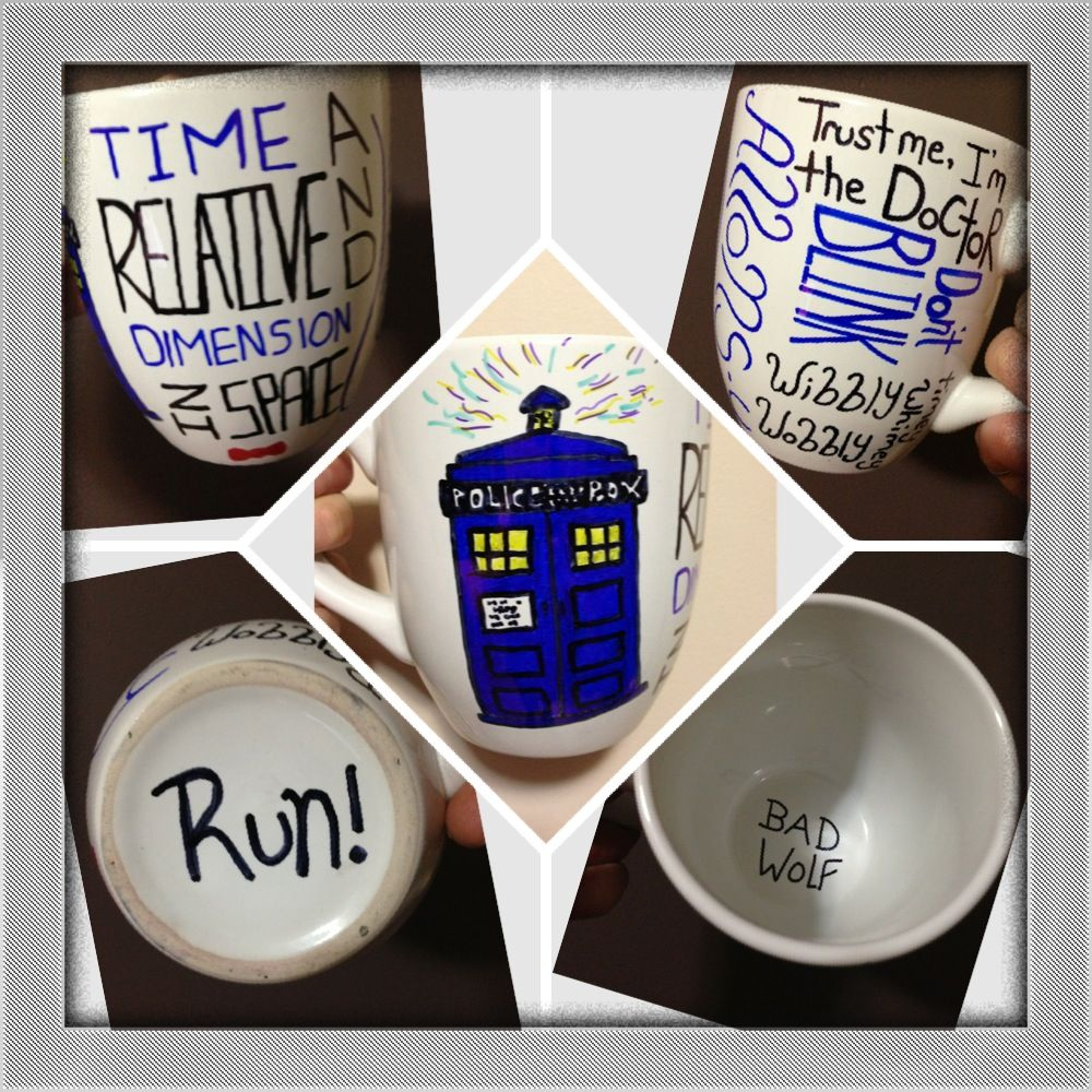 Worlds best doctor coffee mugs - My Sharpie Doctor Who Mug I Made As A Gift For A Friend Doctor Who Mugbest Coffee