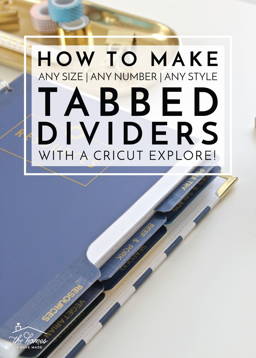How To Make Tabbed Dividers On A Cricut Explore Storage Ideas Ironon Obsess Technolog Devic Project Circuit Idea Learn Your No Matter The Shape Size Or Style You Prefer For Binders This Tutorial Will Show