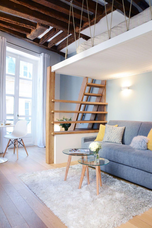 Mezzanine : inspiration gain de place   Mezzanine   Tiny studio ...