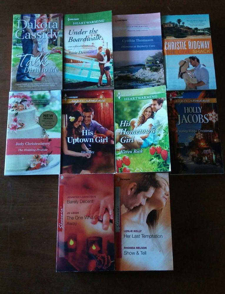 Harlequin Romance Novels 10 Lot Books Liz Talley Karen