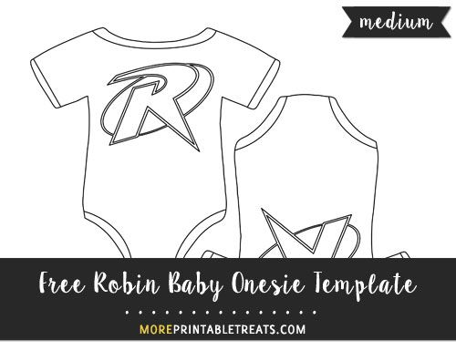 Free Robin Baby Onesie Template - Medium Size Shapes and - onesie template