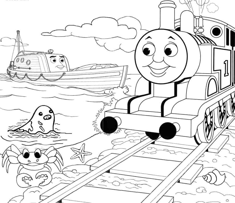 Thomas And Friends Marine Animals Coloring Page Kids Coloring