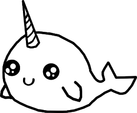 Doodlecraft Kawaii Narwhal Vinyl Tote Diy Cricut Explore Air 2 Kawaii Narwhal Narwhal Disney Princess Coloring Pages