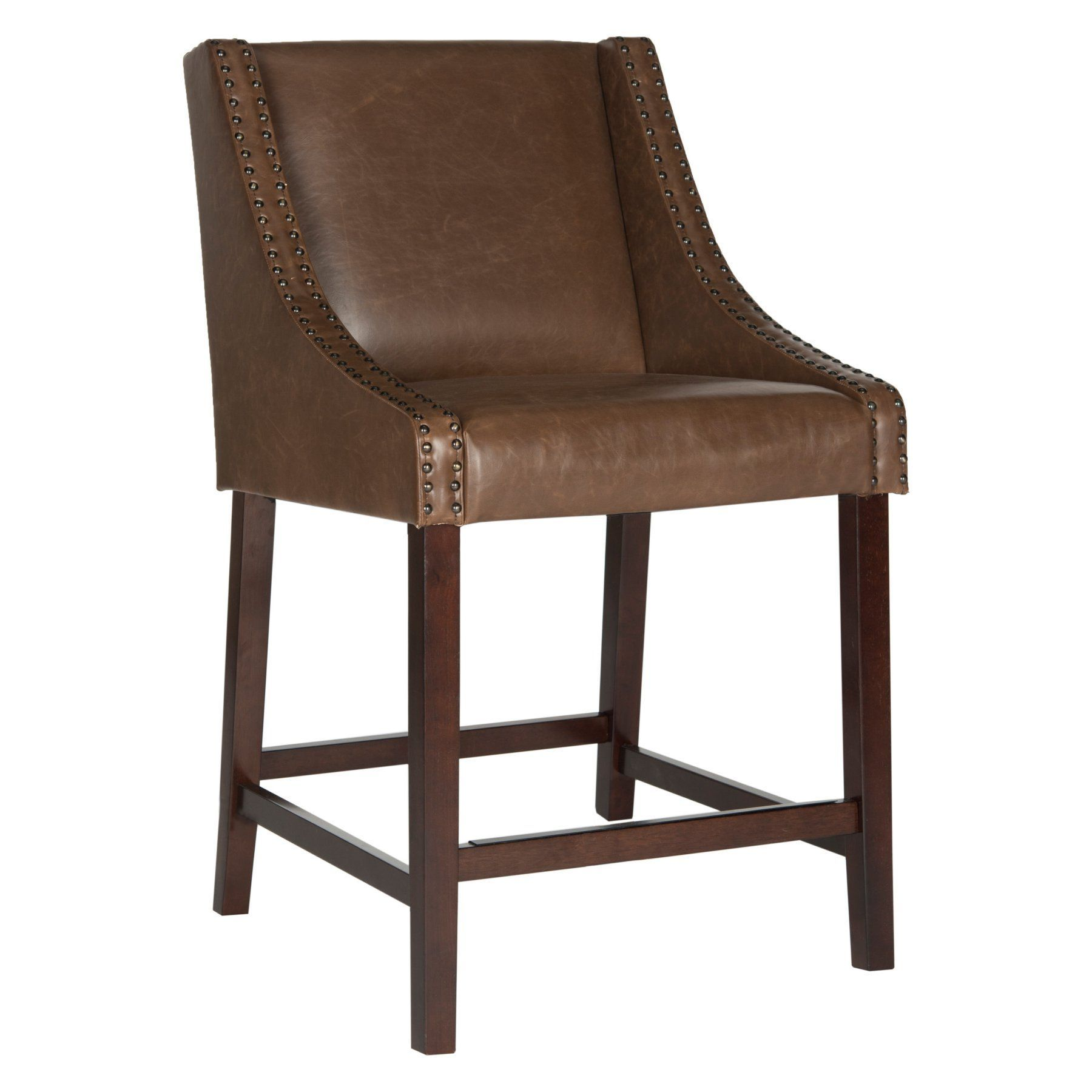 Prime Safavieh Dylan 25 5 In Leather Counter Stool Fox6221E Bralicious Painted Fabric Chair Ideas Braliciousco