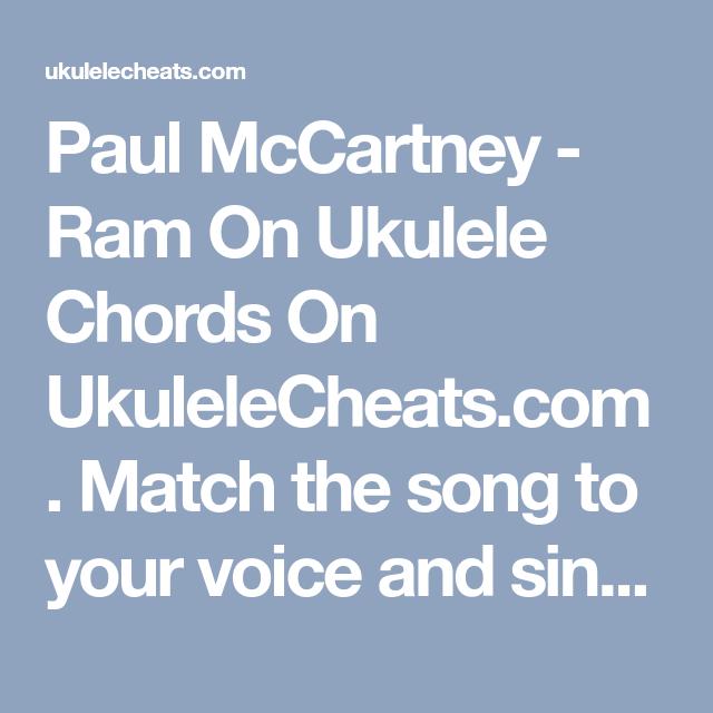 Paul Mccartney Ram On Ukulele Chords On Ukulelecheats Match
