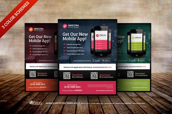 i just released mobile app flyer templates on creative market