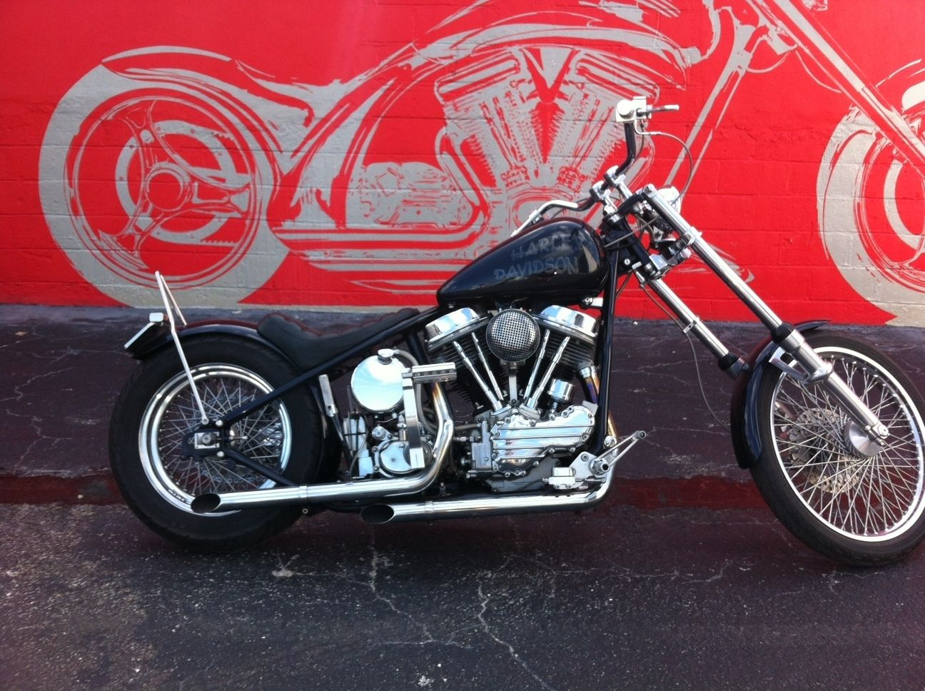 Harley-Davidson : Other 1957 HARLEY DAVIDSON CUSTOMIZED RIGID FRAME PAN HEAD 1200cc , GREAT CONDITION