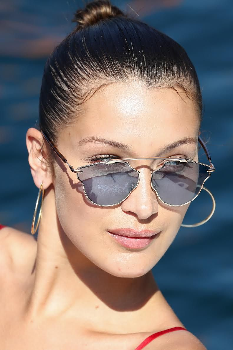f32803f701 Bella Hadid wears Dior SO REAL POP sunglasses.  otticanet  otticanet.com   celebrities  eyewear  summer17