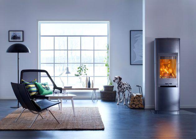 Kaminofen von Contura * Feuerstelle im Wohnzimmer * schwarzer Ofen - ofen für wohnzimmer