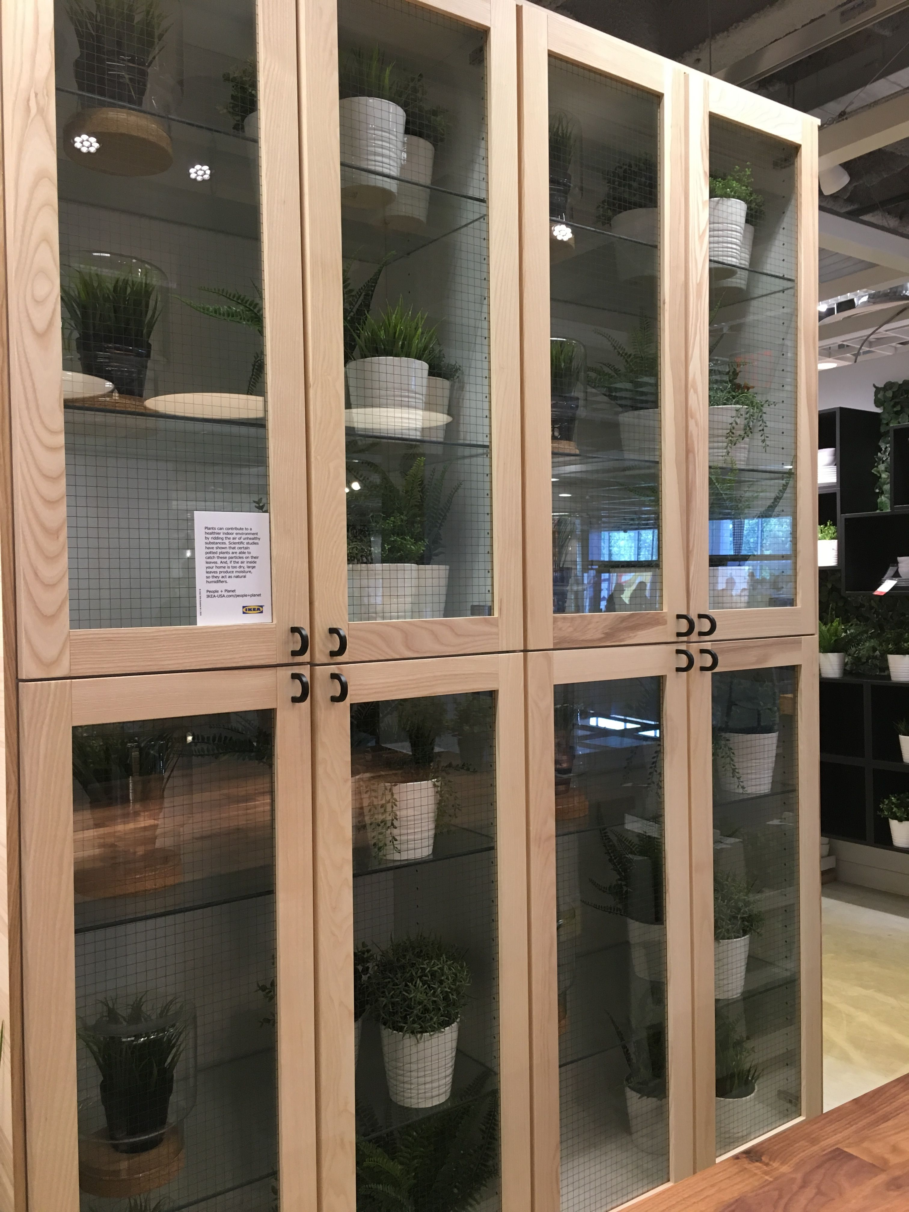 SEKTION Wall cabinet with 2 glass doors - white, Grimslöv ...