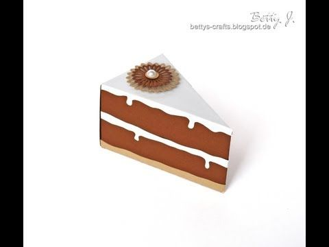 Tortenstück-Box - pie box/cake box - YouTube