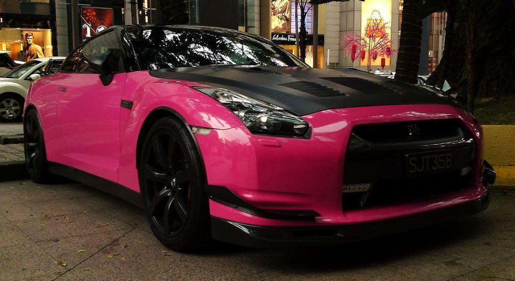 Pink Nissan Gt R
