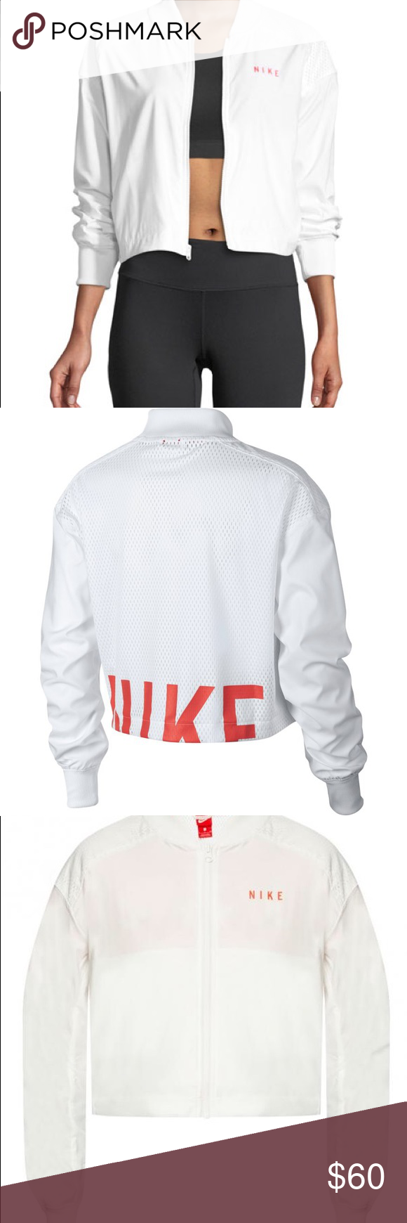 ca084b0ed2de Nike Sportswear Bomber Jacket Nike Sportswear Bomber Jacket Nike bomber  jacket with mesh paneling. Baseball collar  zip front. Long sleeves.