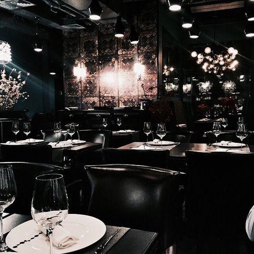 Imagen de dark restaurant and tumblr la city