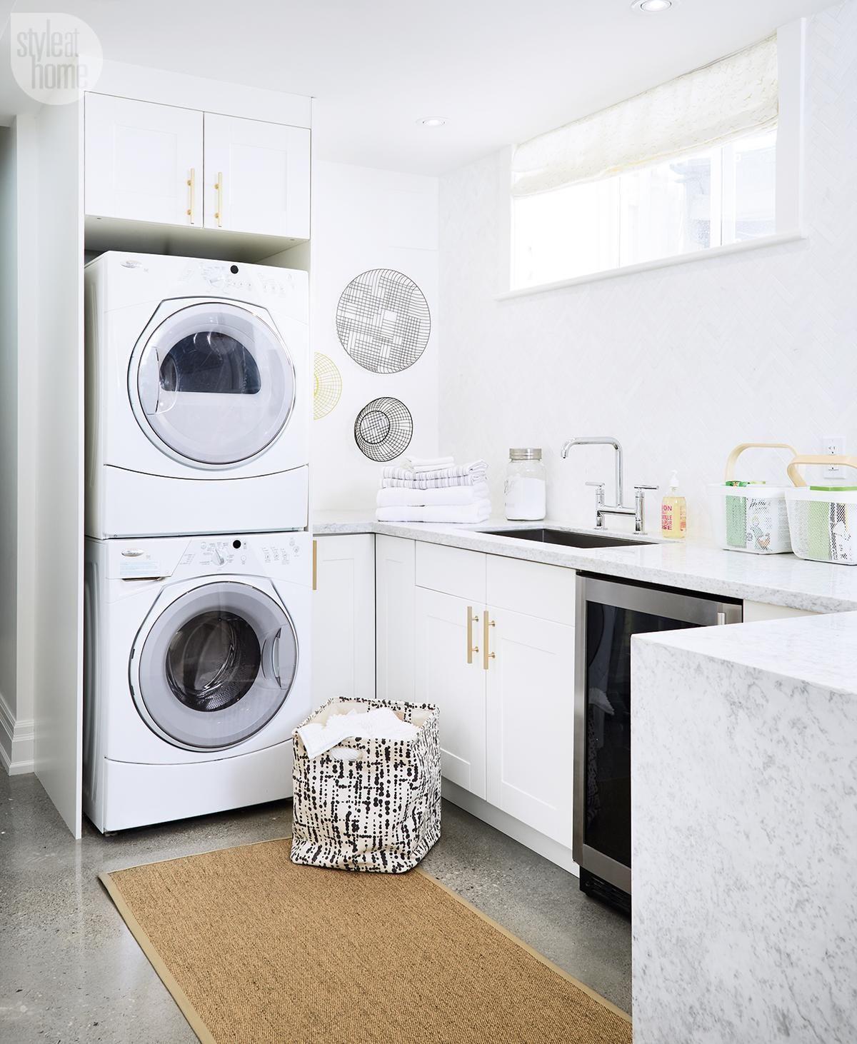 Basement renovation vibrant multi purpose space for Laundry room renovation