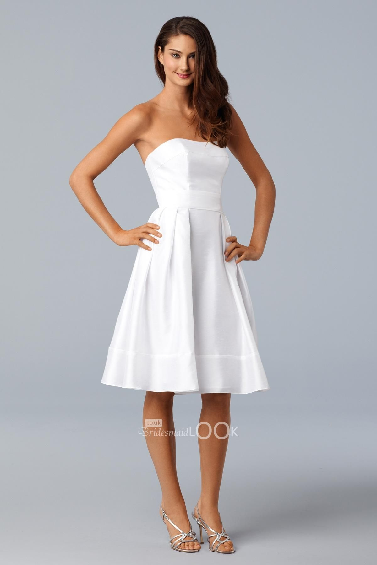 Strapless off white mini bridesmaid ball gown for my bridesmaids