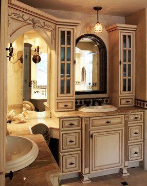 traditional corner vanity master bath design ideas