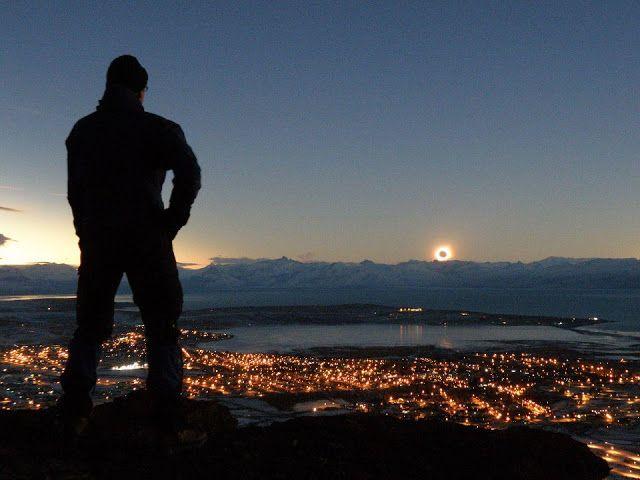 Solar eclipse in Argentina.