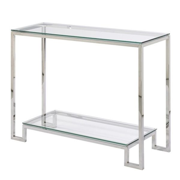 Small Demster Gl Stainless Steel Console Table