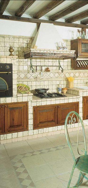 Cucine in Muratura - Pietra Primiceri - Modello Diana | Cucine in ...