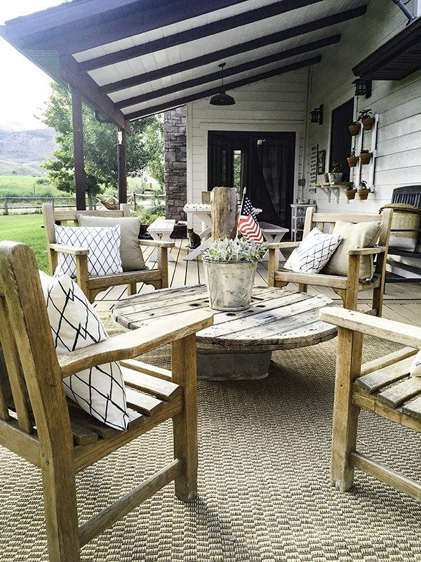 Farmhouse Outdoor Garden Tour Patio Decor Porch Furniture Farmhouse Patio
