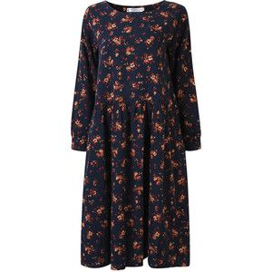 Floral Printed Long Sleeve Long Maxi Dress For Women