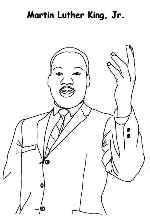 martin luther king jr coloring pages activities | Martin luther king ...