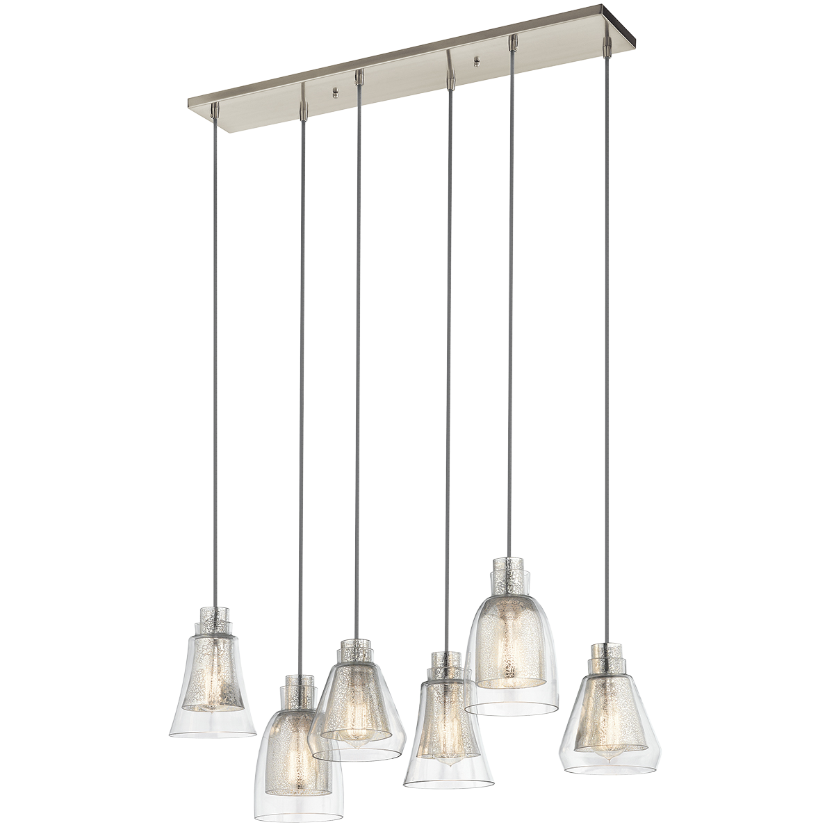 Kitchen chandelier (1, table) Evie 6 Light Chandelier - Brushed ...