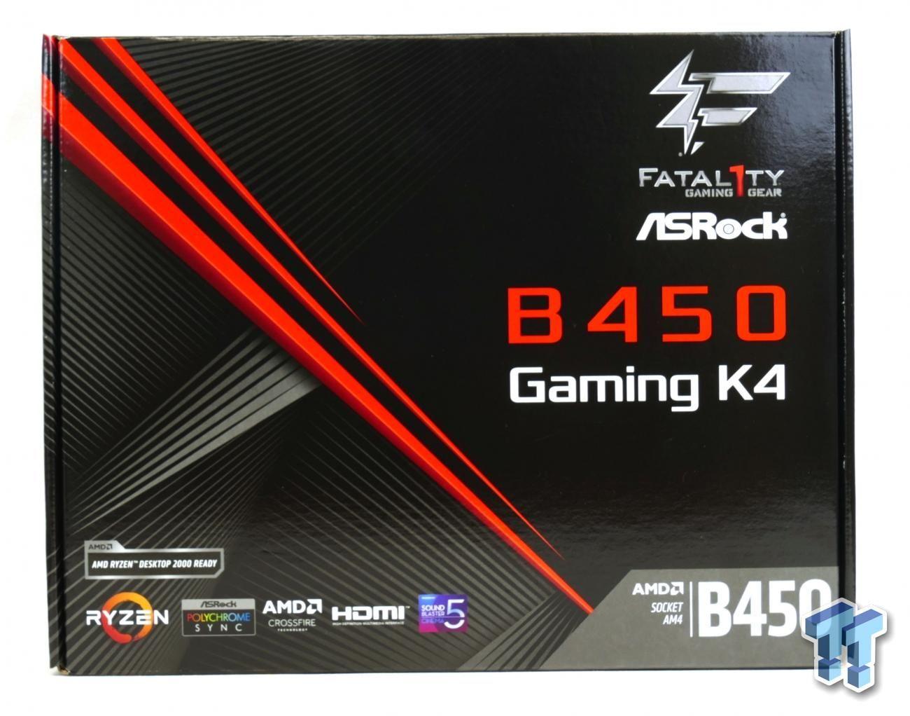 ASRock Fatal1ty B450 Gaming K4 (AMD B450) Motherboard Review