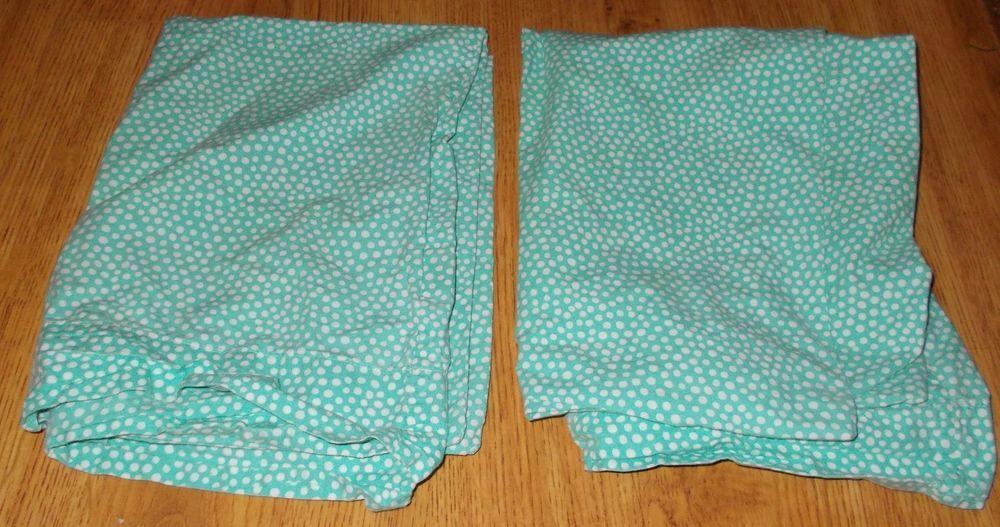 Polka Dot Pillowcases Fascinating 60 Pottery Barn Teen Green White Polka Dots Pillowcases Bedding