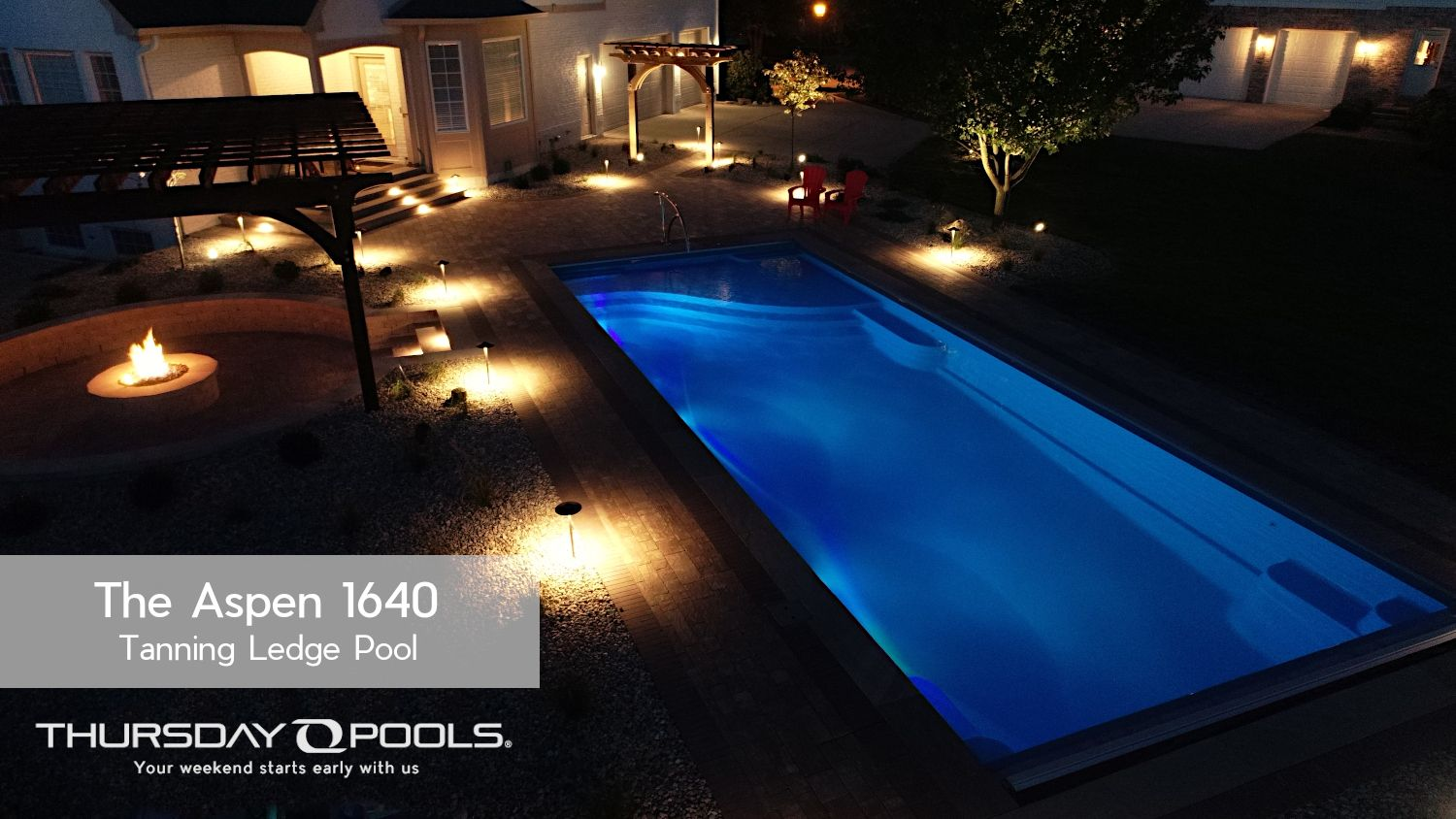 Thursday Pools Aspen With Hayward Colorlogic Led Lighting In 2020 Pool Lights Pool Swimming Pool Lights