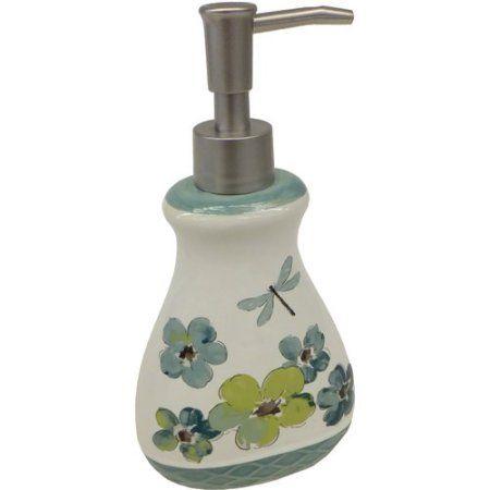 Mainstays Dragonfly Decorative Bath Collection Lotion/Soap Pump, Multicolor