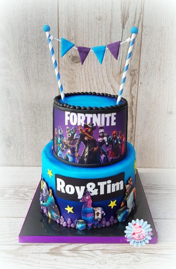 Fortnite Edible Image Cake Cake By Sam Nel S Taarten Birthday Party Cake Boy Birthday Cake Edible Image Cake