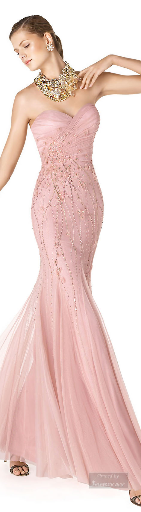 Vestido rosa claro | GALA DRESS☆ | Pinterest | Rosa clará, Couture ...